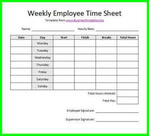 Weekly time card template free weekly employee time sheet spreadsheet