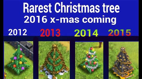 in coc xmas tree in 2016 rarest tree clash of clans 2016 x tree coming