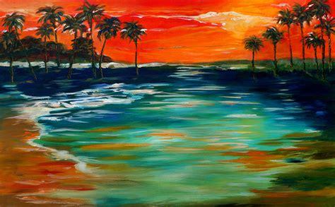 paint island sunset island by