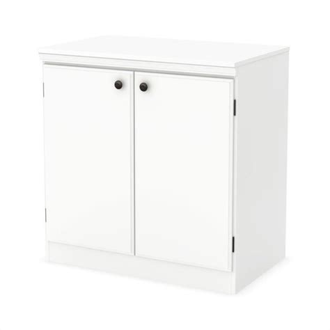 White 2 Door Storage Cabinet South Shore 2 Door Storage Cabinet In White 7260722