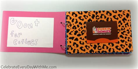 Target Dunkin Donuts Gift Card - gift card booklet celebrate every day with me