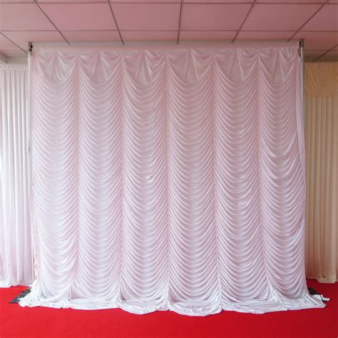Wedding Backdrop Curtains Swag Wedding Backdrop Curtain 10ft 10ft 3mh 3mw In Curtains From Home Garden On Aliexpress