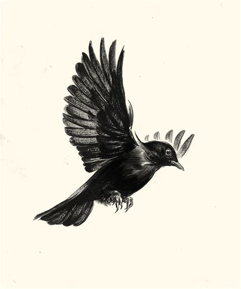 black bird tattoos blackbird of harkers drop 72 00 via etsy on my