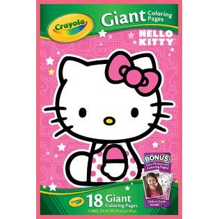 crayola hello kitty mini coloring pages crayola hello kitty giant coloring pages toys games