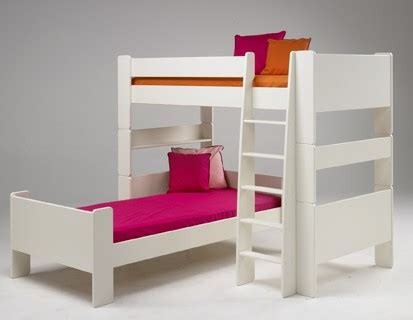 l shaped bunk beds for kids for kids l shaped bunk bed white popsicle