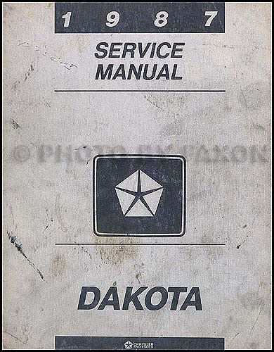 1987 Dodge Dakota 4wd Repair Shop Manual Original