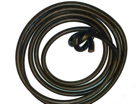 20 ft 4 ga black wire cable power ground primary