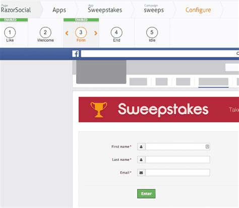 Sweepstakes App - facebook contest apps which one to use razorsocial