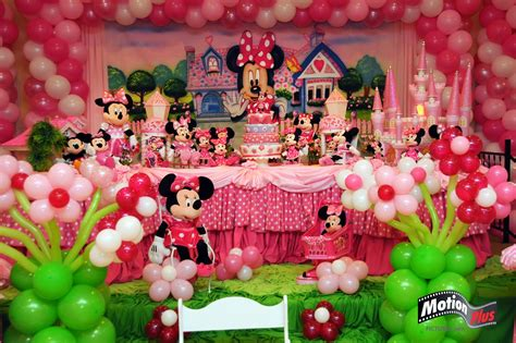 themed birthday parties motion plus pictures minnie themed birthday party ideas