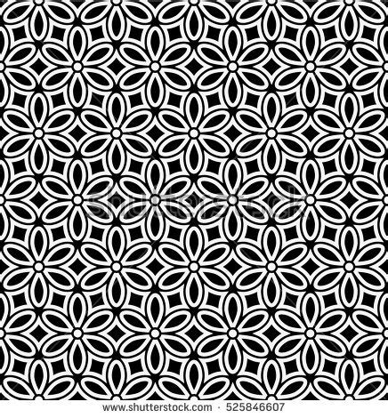 leaf pattern geometric seamless abstract floral pattern stylish black stock