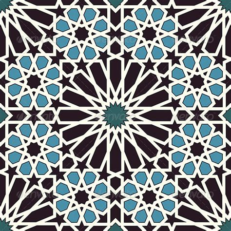 pattern arabesque vector arabesque seamless pattern in blue and black by paulrommer