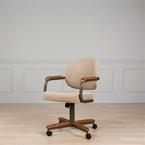 Casual Dining Cushion Swivel And Tilt Rolling Caster Chair Casual Dining Cushion Swivel And Tilt Rolling Caster Chair