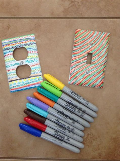 home depot crafts for diy outlet covers sharpie on plain outlets 20 cents at