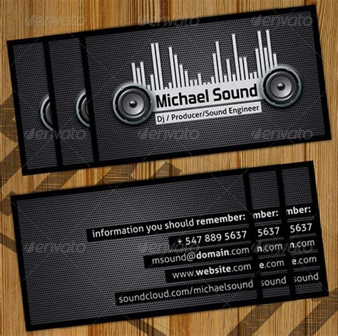dj business cards templates 25 dj business cards free free premium templates