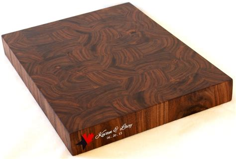 Black Butcher Block Kitchen Island hand crafted engraved end grain cutting board walnut