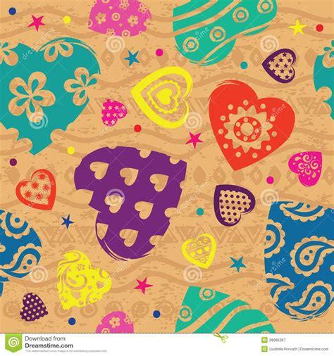 heart vintage pattern vintage vilentine s color heart pattern royalty free stock