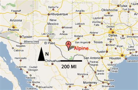 alpine texas map sighting reports 2006