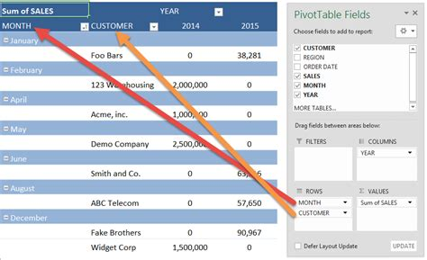 ms excel pivot table pivot table report layouts free microsoft excel tutorials