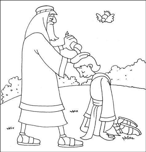 bible puzzles coloring pages samuel anointing david