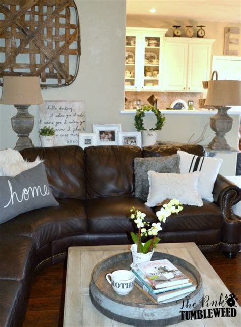 Home Decor Brown Leather Sofa by The Scoop 154 Cedar Hill Farmhouse