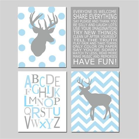 Wandtattoo Kinderzimmer Baby Junge by Baby Boy Nursery Chevron Deer Nursery Prints