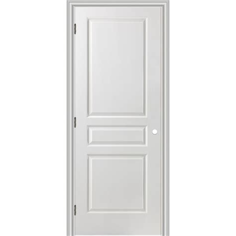 Shop Reliabilt 28 In X 80 In 3 Panel Square Hollow Prehung Interior Doors
