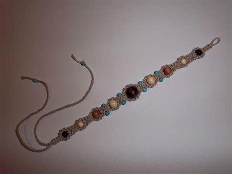 "Lussy   Art: ""Nomadic knots"" hemp bracelet"
