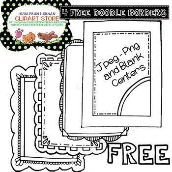 free doodle frame font cadres bordures et papiers on page borders