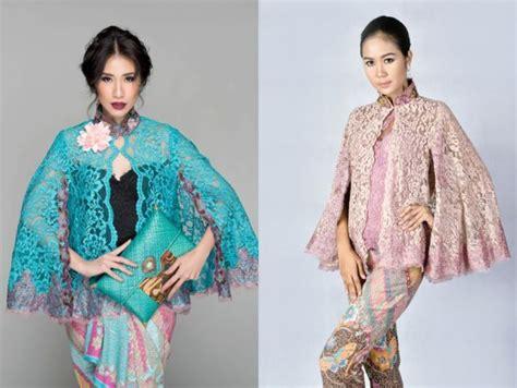 Kebaya Brukat Kalong til trendi nggak harus terbuka 9 inspirasi kebaya model cape menutup dada ini layak coba