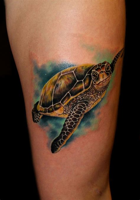 sea turtle tattoo sea turtle by chris 51 of area 51 in