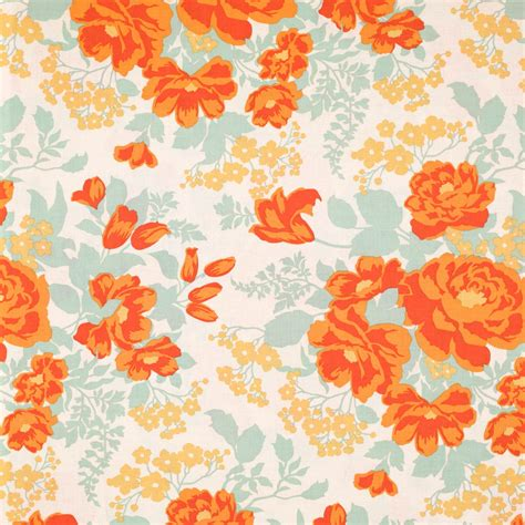wallpapers orange and floral on