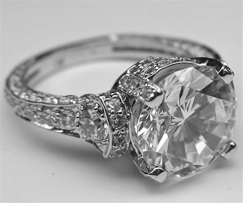 vintage engagement ring circa cartier 1920 wedding ideas
