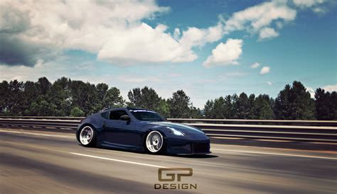 Slammed Nissan 370z By Gpdezign On Deviantart