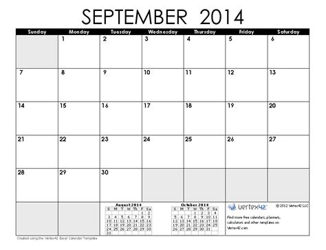 september 2014 calendar template 2014 calendar templates and images monthly and yearly