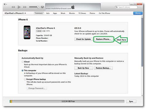 Reset Iphone Software Update | how to restore update iphone 6 mobilehardreset