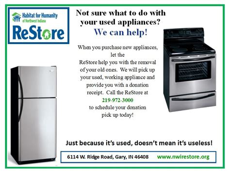 donate kitchen appliances restore