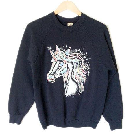 Unicorn Sweatshirt vintage 80s unicorn paint sweatshirt the