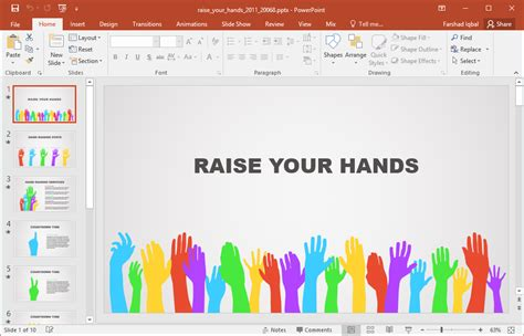 animated power point template animated raise your powerpoint template