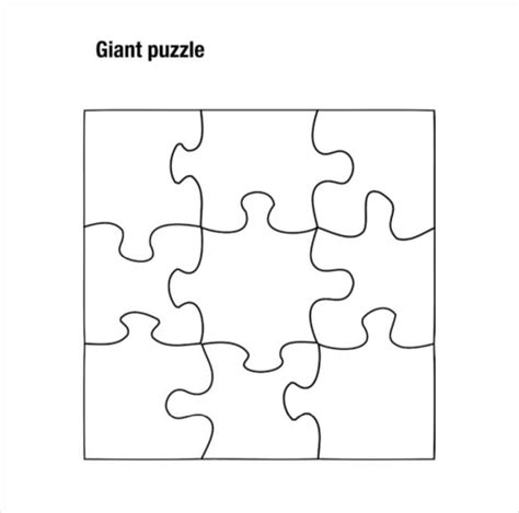 8 Piece Jigsaw Puzzle Template Pictures To Pin On Puzzle Templates Free