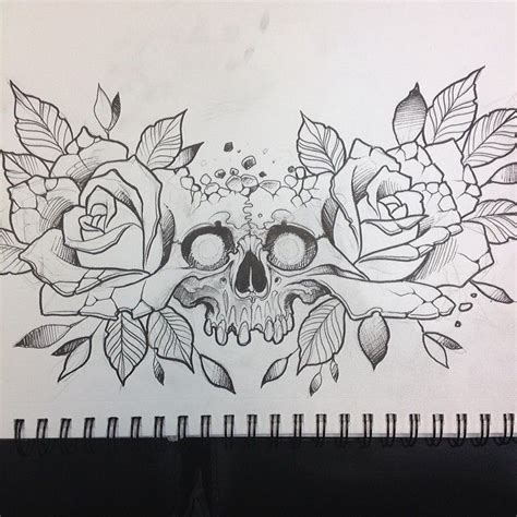 Neck Tattoo Designs Drawings | 24 best cute skull tattoo designs on chest images on