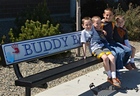 buddy bench our buddy bench real imprints
