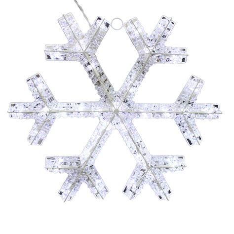 shop holiday living 0 17 ft snowflake lighted outdoor