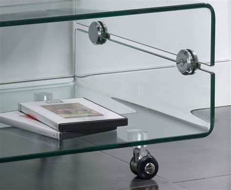 Meuble Tv Verre by Banc Tv En Verre Transparent Design Clarity