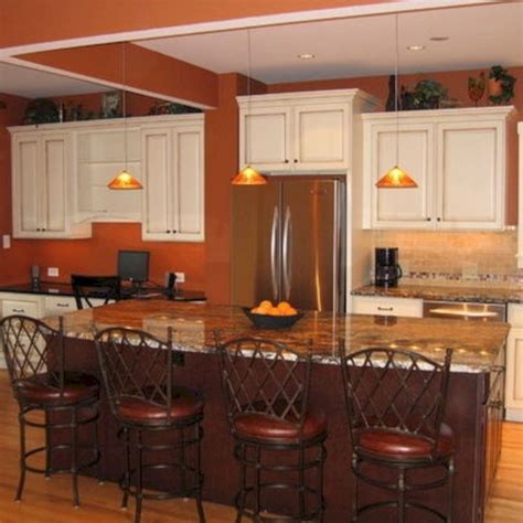 burnt orange kitchen walls with white cabinets 24 spaces