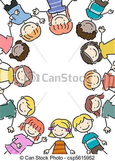 immagini clipart bambini clipart di cornice bambini illustration di