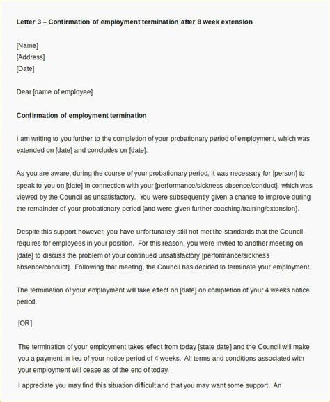 termination letter format during probation period template letter extending probationary period uk fresh