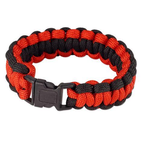 two color paracord bracelet 8 quot two tone color paracord bracelet 8 quot x3 4 quot black 1 pc