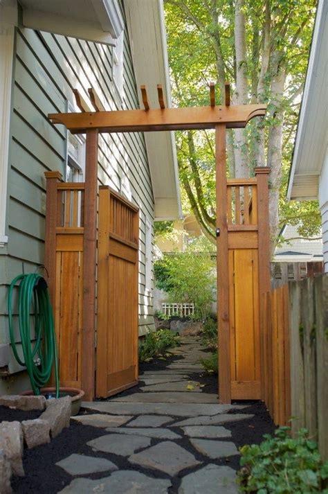 craftsman pergola style gate  fence garden gates