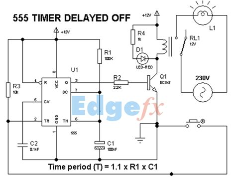timer relay circuit schematic get free image about