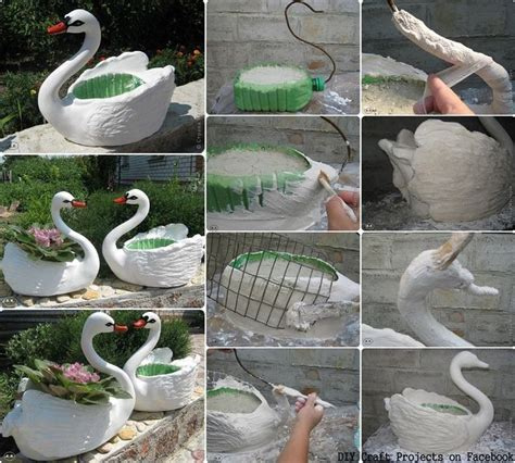 Craft Ideas For Garden Decorations Diy Craft Projects Swans Garden Decor Crafts Pinterest